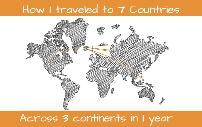 How I Traveled to 7 Countries Across 3 Continents in 1 Year