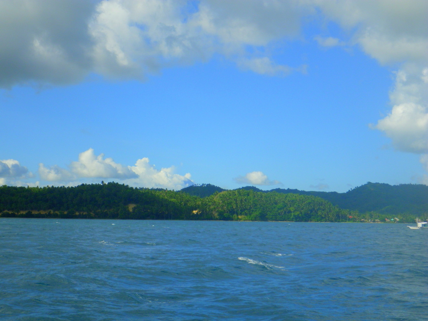 Donsol's horizon with no signs of whale sharks